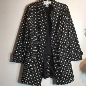 Loft polka dot trench coat